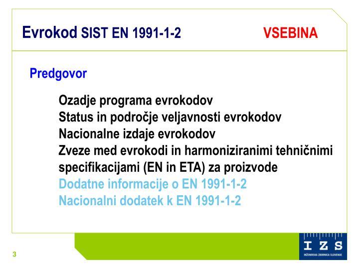 Evrokod sist en 1991 1 2 vsebina
