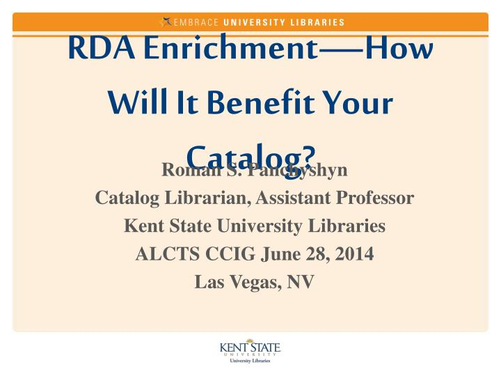 rda enrichment how will it benefit your catalog n.