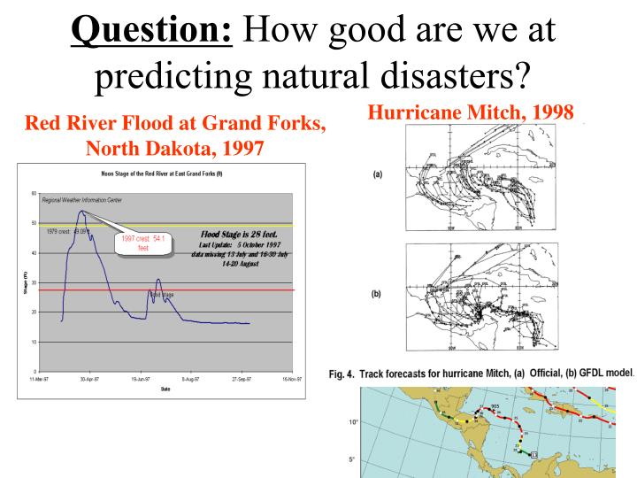 question how good are we at predicting natural disasters n.