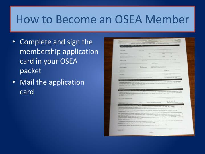 How to Become an OSEA Member