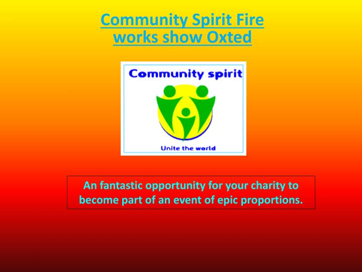 community spirit fire works show oxted n.