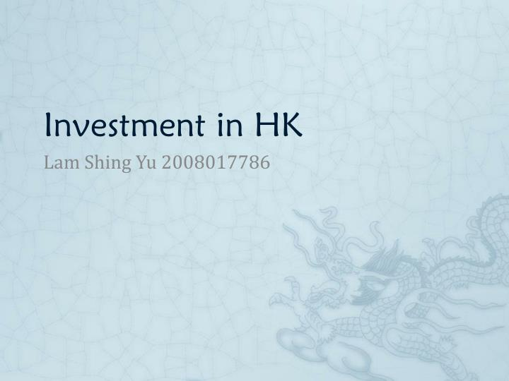 investment in hk n.