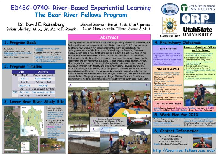 Ed43c 0740 river based experiential learning the bear river fellows program