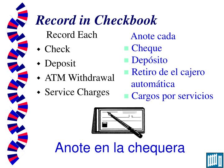 Record in Checkbook