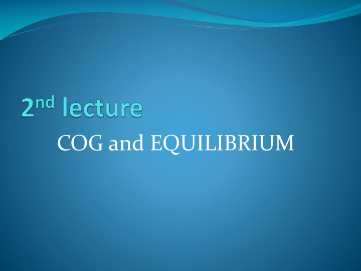 2 nd lecture n.
