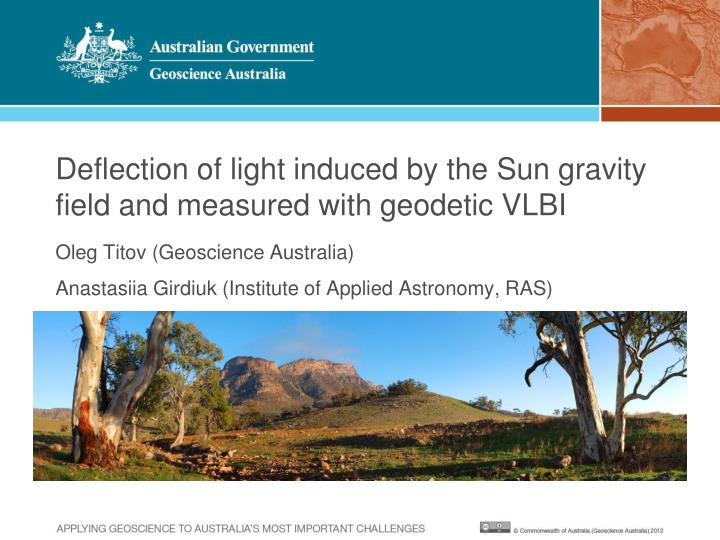 Deflection of light induced by the sun gravity field and measured with geodetic vlbi