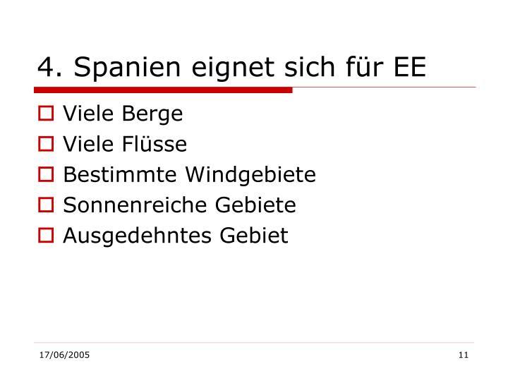 4. Spanien eignet sich für EE
