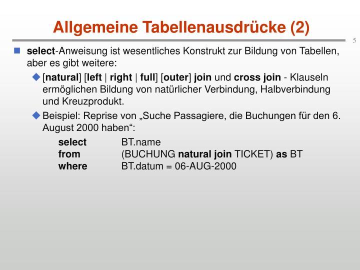 Allgemeine Tabellenausdrücke (2)