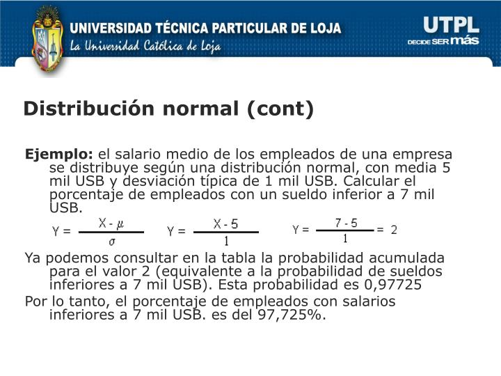 Distribución normal (cont)