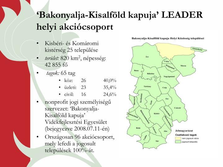 Bakonyalja kisalf ld kapuja leader helyi akci csoport