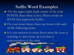 suffix word examples
