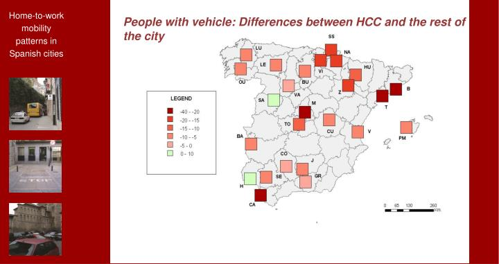 People with vehicle: Differences between HCC and the rest of the city