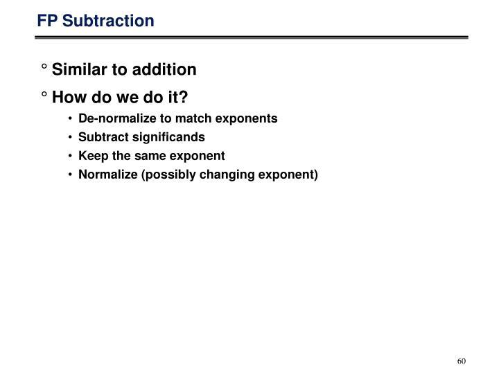 FP Subtraction