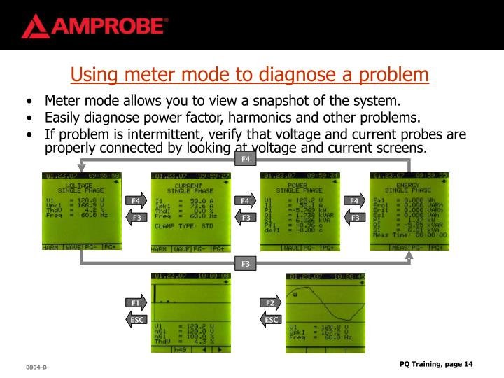 Using meter mode to diagnose a problem