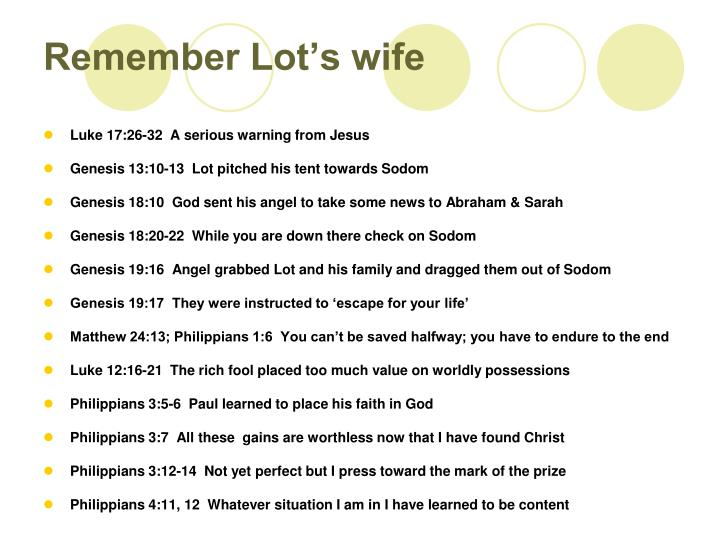 remember lot s wife n.