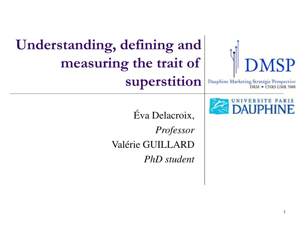 ppt - understanding, defining and measuring the trait of