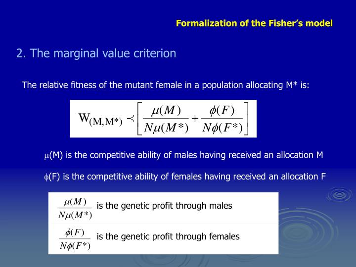 (M) is the competitive ability of males having received an allocation M