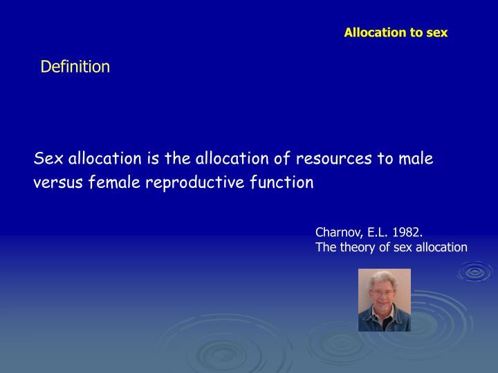 Allocation to sex