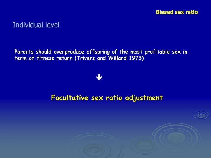 Biased sex ratio