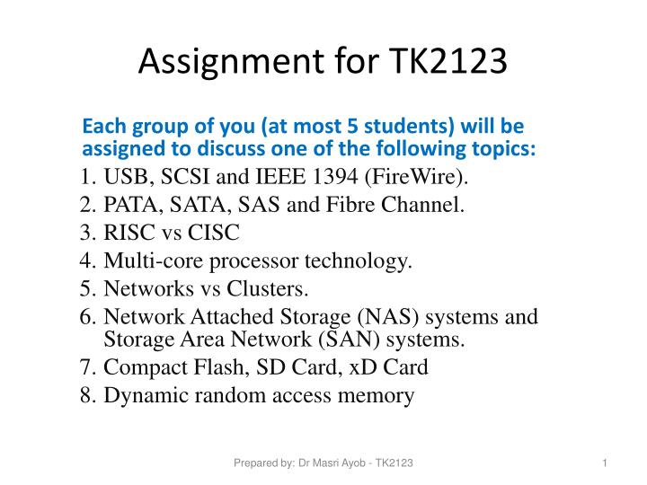 assignment for tk2123 n.