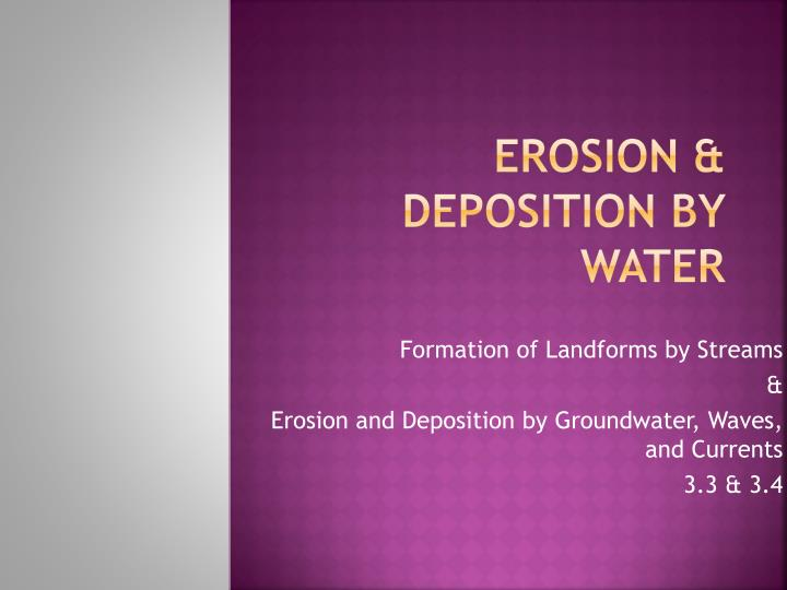 erosion deposition by water n.