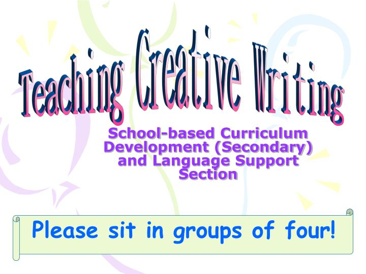 school based curriculum development secondary and language support section n.