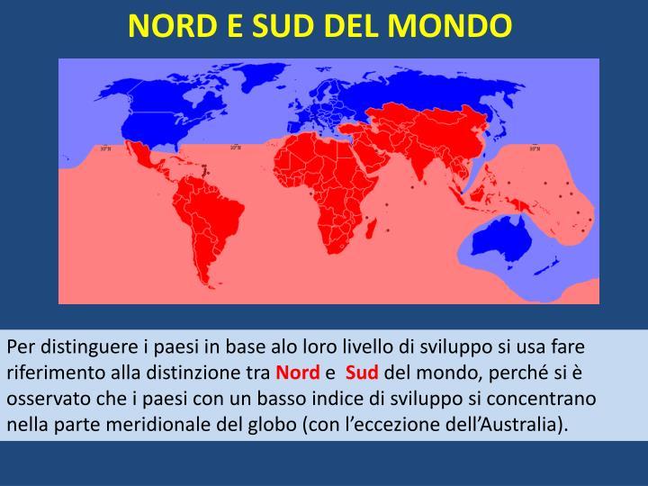 NORD E SUD DEL MONDO