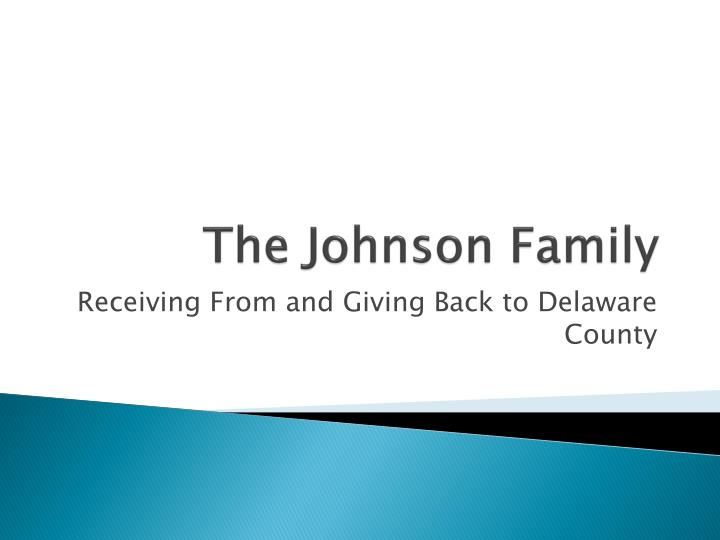 the johnson family n.