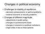 changes in political economy