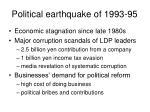 political earthquake of 1993 95