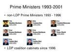 prime ministers 1993 2001