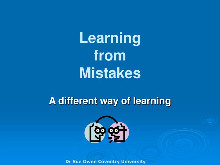 learning from mistakes n.
