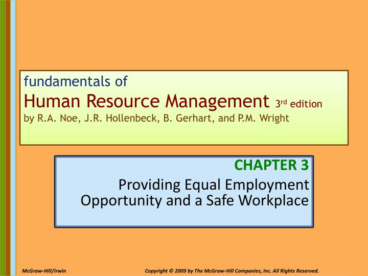 PPT CHAPTER 3 Providing Equal Employment Opportunity And A