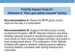 priority impact area 1 advance a first get stably housed policy