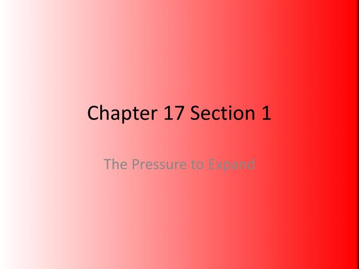 chapter 17 section 1 n.
