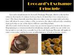 leocard s exchange principle