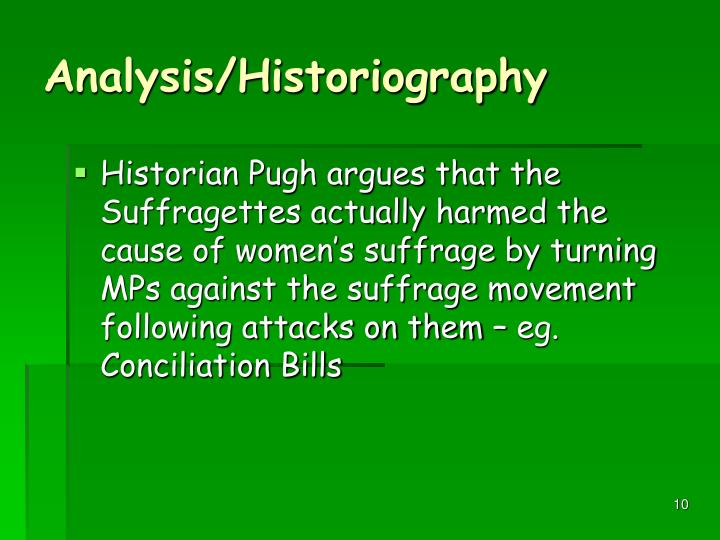 Analysis/Historiography