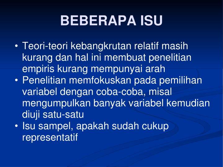 BEBERAPA ISU