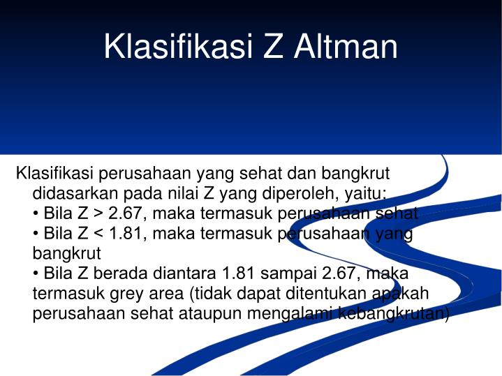 Klasifikasi Z Altman