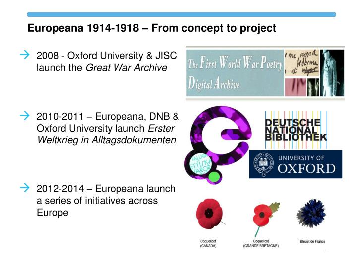 Europeana 1914-1918 – From concept to project