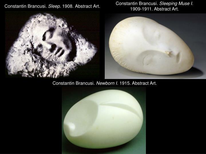 Constantin brancusi sleep 1908 abstract art