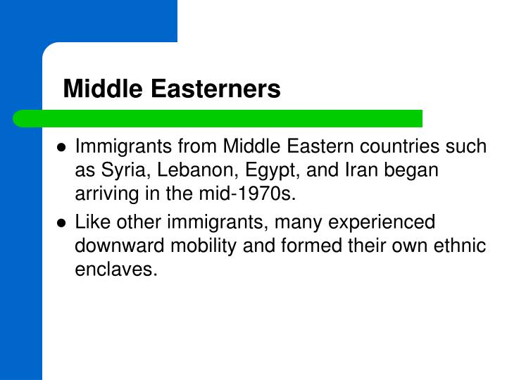 Middle Easterners