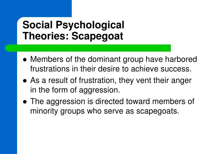 Social Psychological