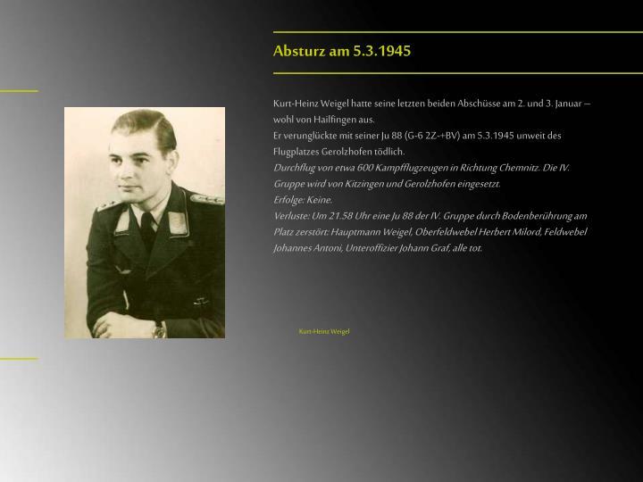 Absturz am 5.3.1945