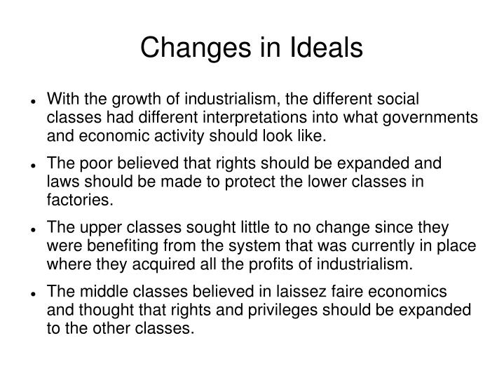 Changes in ideals