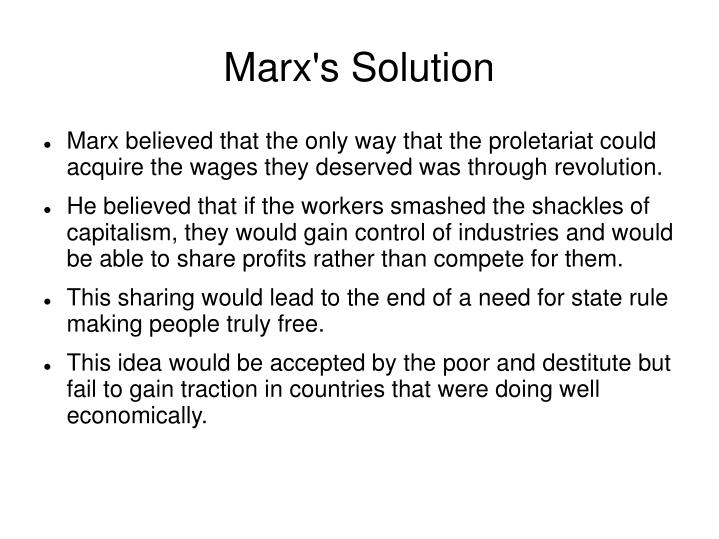 Marx's Solution