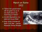 march on rome 1922