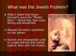 what was the jewish problem