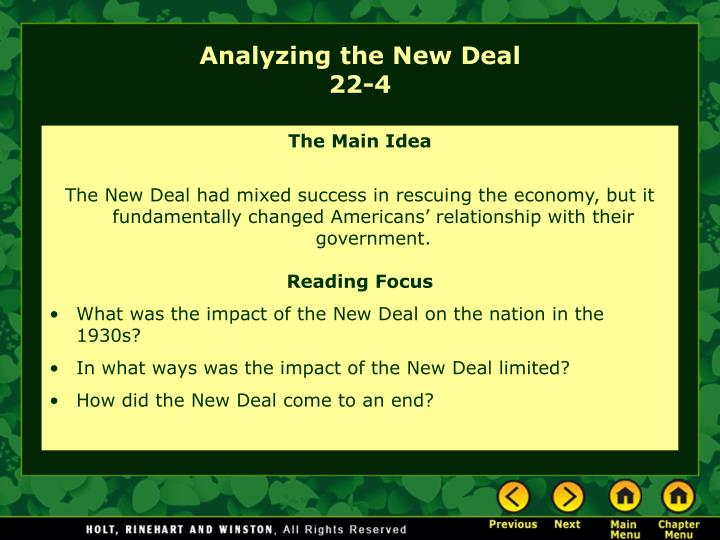 analyzing the new deal 22 4 n.
