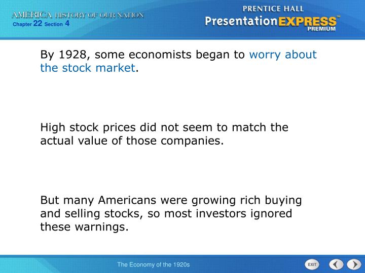 By 1928, some economists began to